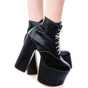 deandri Shoes - deandri tequila black platforms