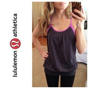 lululemon athletica Tops - Lululemon No Limits Tank in Purple Crush/Coal