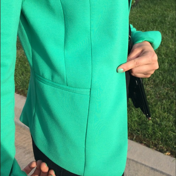 H&M Jackets & Coats - H&M Bright Green Blazer 2