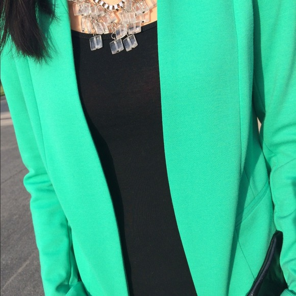 H&M Jackets & Coats - H&M Bright Green Blazer 3
