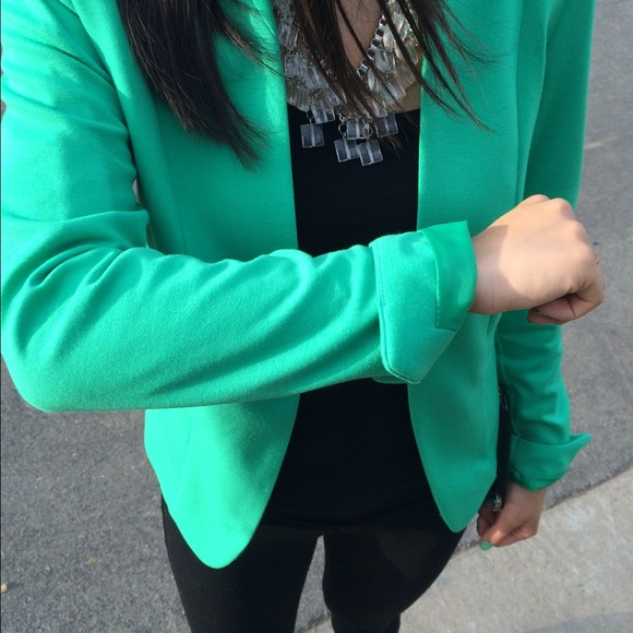 H&M Jackets & Coats - H&M Bright Green Blazer