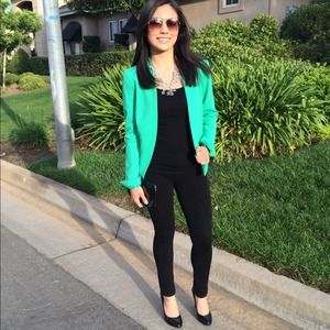 H&M Jackets & Coats - H&M Bright Green Blazer 1