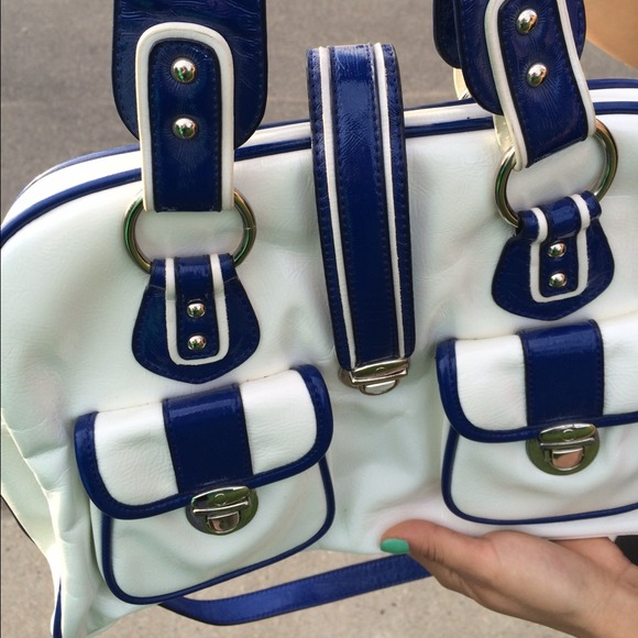 melie bianco  Bags - Price Reduction! Melie Bianco Blue & White Handbag