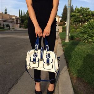 melie bianco  Bags - Price Reduction! Melie Bianco Blue & White Handbag 1