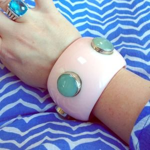 boutique Jewelry - Gorgeous! Enamel and natural stone large bracelet
