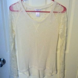 Candie's lace sleeved shirt