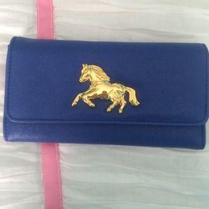Cobalt blue wallet