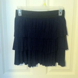 Navy blue three tiered skirt