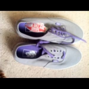 Grey and purple vans