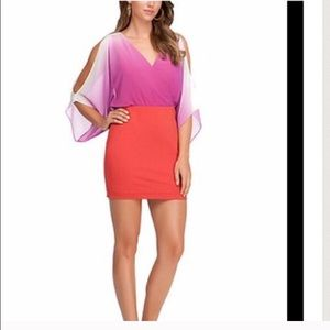 Bebe purple orange dress size S