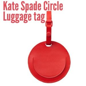 Kate Spade Saturday True Red luggage tag