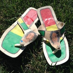 Shoes - Hand painted thongs