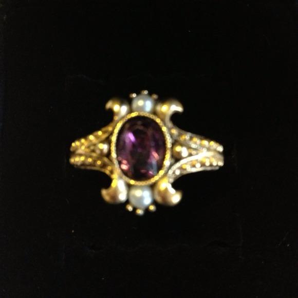 Avon Jewelry Vintage Amethyst Ring Poshmark