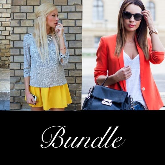 104edd89f7f8c Dresses   Skirts - Bundle orange blazer + Yellow skirt.
