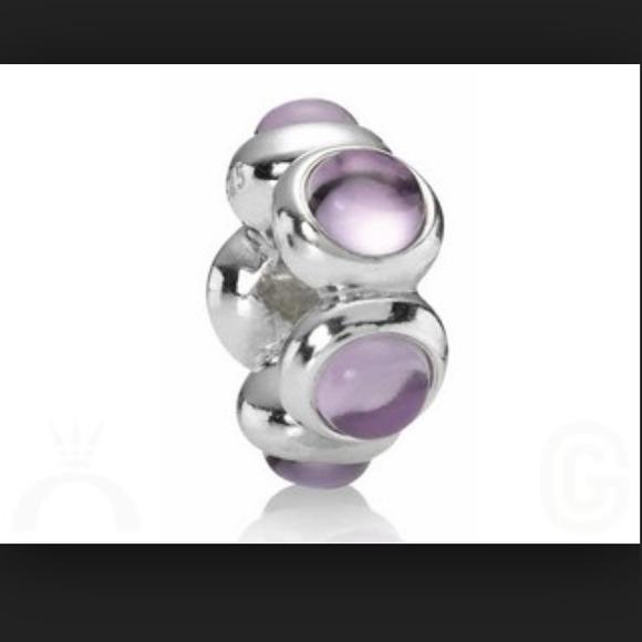 Pandora Jewelry Roll: Authentic Pandora Amethyst Charm