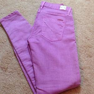 Hudson Nico super skinny lavender jeans