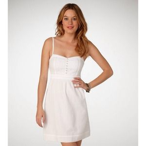 American Eagle Outfitters Dresses & Skirts - American Eagle Outfitters Crisp White Corset Dress