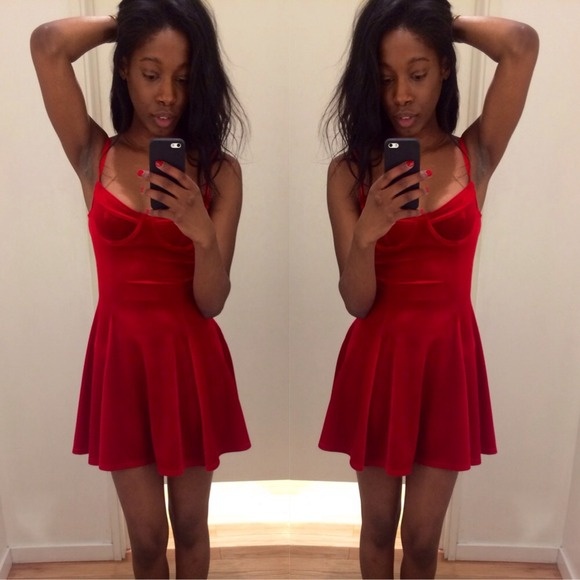 330f96032a3a American Apparel Dresses & Skirts - Red velvet American Apparel XS