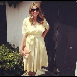 Vintage yellow 50's dress