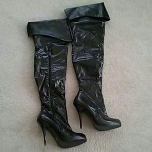 s secret thigh high boots on poshmark