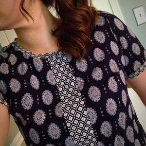 PoshFind: J. Crew Mixed Prints Tee @_katie_girl