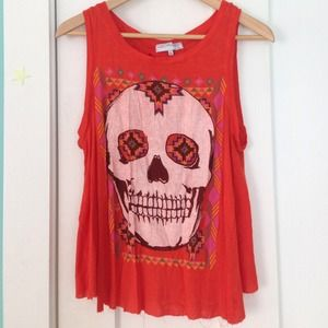 Urban Outfitters/ Daydreamer Open Back Skull Tank