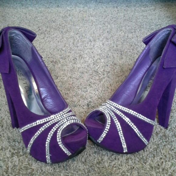 75% off Shoes - Purple diamond heels from Nikki's closet on Poshmark