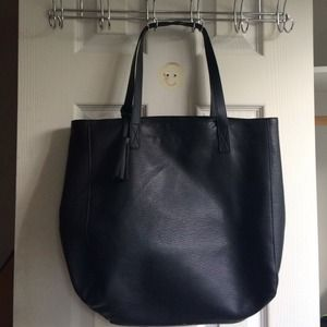 Old Navy Handbags - Old Navy Black Leather Tote