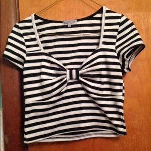 Black and White Bow Shirt