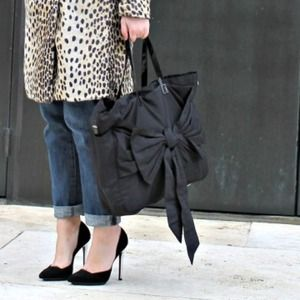 By Malene Birger Black Bow Tote