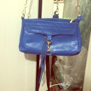 Handbags - Faux lather bright blue going out bag
