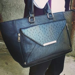 Black JustFab handbag and clutch