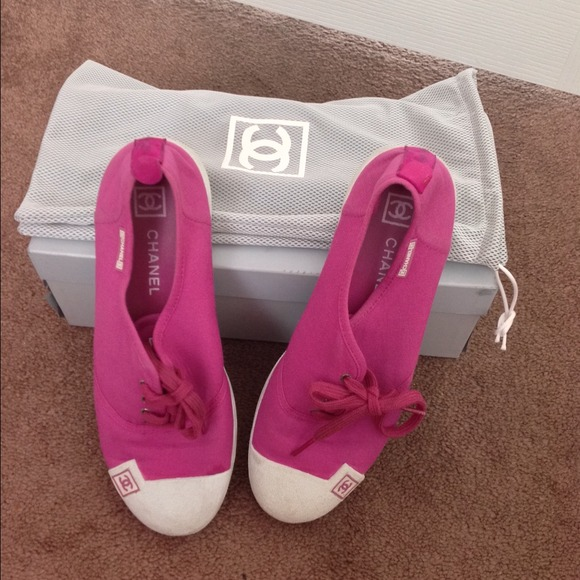 58 chanel shoes chanel pink sneakers from rosi s