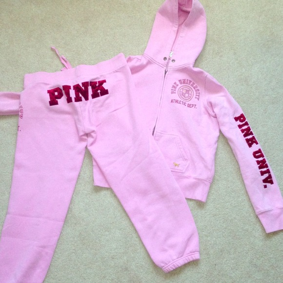 69% off Victoria's Secret Pants - Victoria Secret Pink Hoodie ...