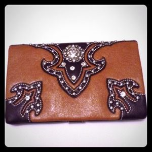 Rustic Couture Clutch Handbag Wallet Western Bling