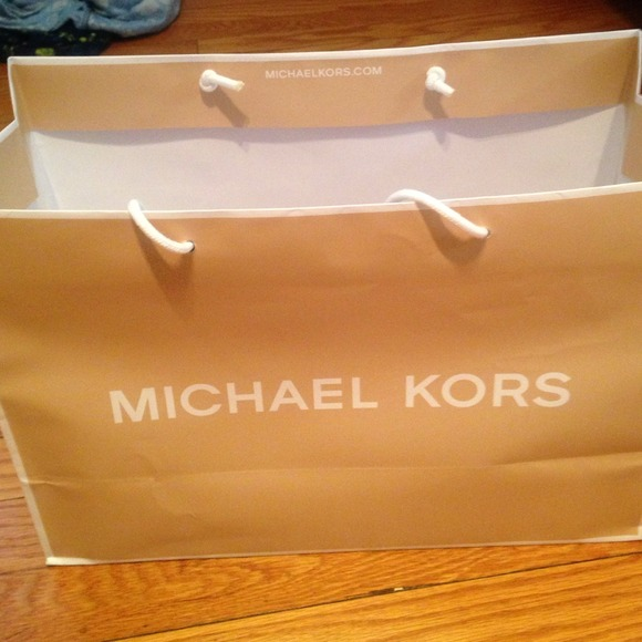 88% off Michael Kors Accessories - Mk shopping bag and box from ...