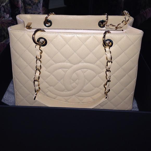 CHANEL Handbags -  2800 100% authentic chanel GST beige caviar 695e2cfb2de9a
