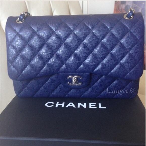 51a95085cc5f CHANEL Bags | Nfs Navy Blue Caviar Jumbo Double Flap | Poshmark