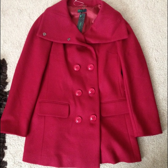 75 off stile benetton outerwear nwt red dress coat from