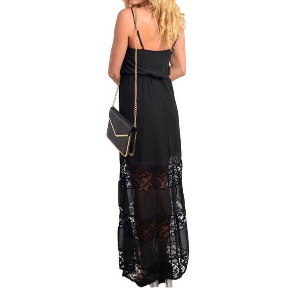 Dresses & Skirts - 💠PM EDITOR PICK💠 LAST Black Lace Maxi 3