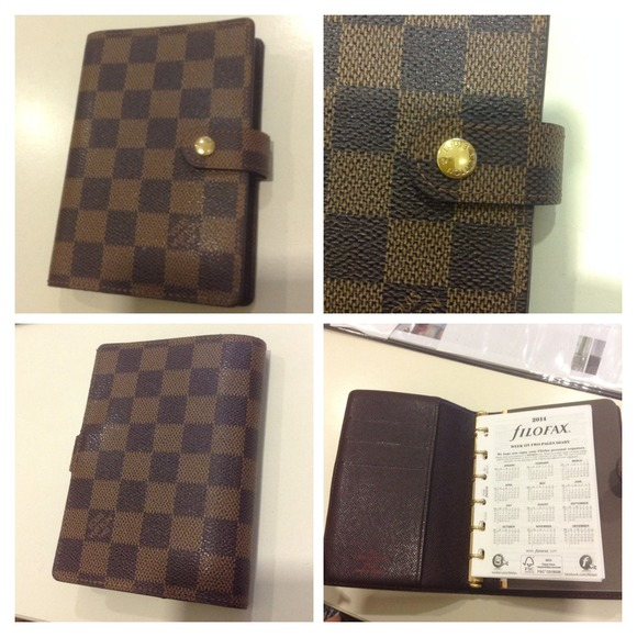 11372c53bc8d Louis Vuitton Accessories - AUTHENTIC LV DAMIER EBENE SMALL RING AGENDA (PM)