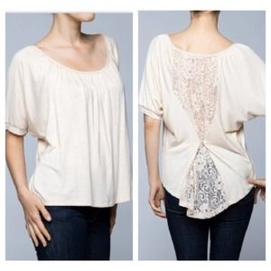 Lovely lace back top ONLY 2 LEFT SALE