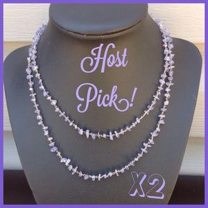 Jewelry - 🎉Host Pick! X2 🎉 Tanzanite Chip Necklace