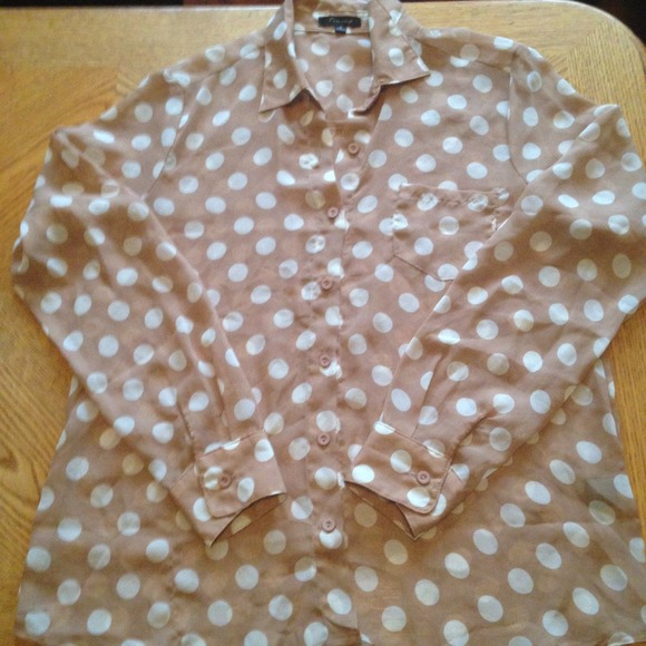 Tops - 🌟REDUCED🌟Polka Dot Blouse, Size S