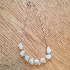 Jewelry - White Druzy Stone Necklace
