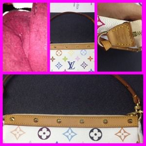 Louis Vuitton Handbags - 💯 Authentic White Multi LV Pochette