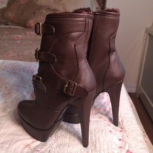 Shoes - Brown high heel boots