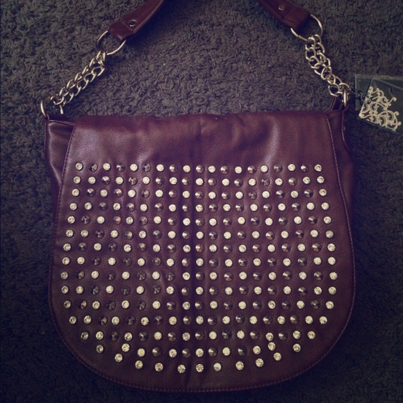 84% off MMS Handbags - Brown studded handbag from Michela's closet ...