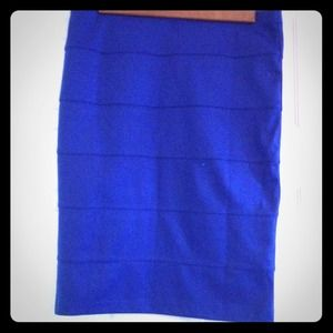 Royal Blue Pencil Skirt from Forever 21
