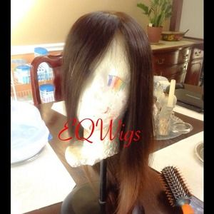"16"" two-tone full lace wig"